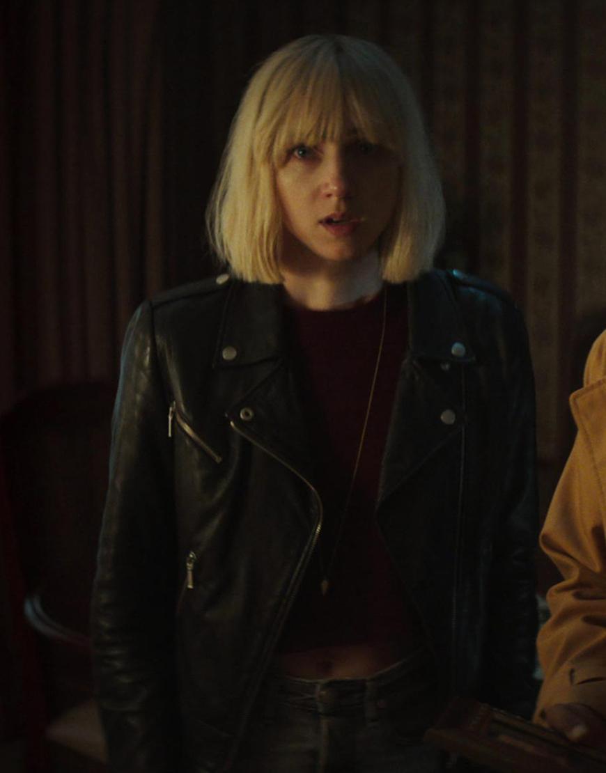 Clickbait 2021 Zoe Kazan Black Leather Jacket