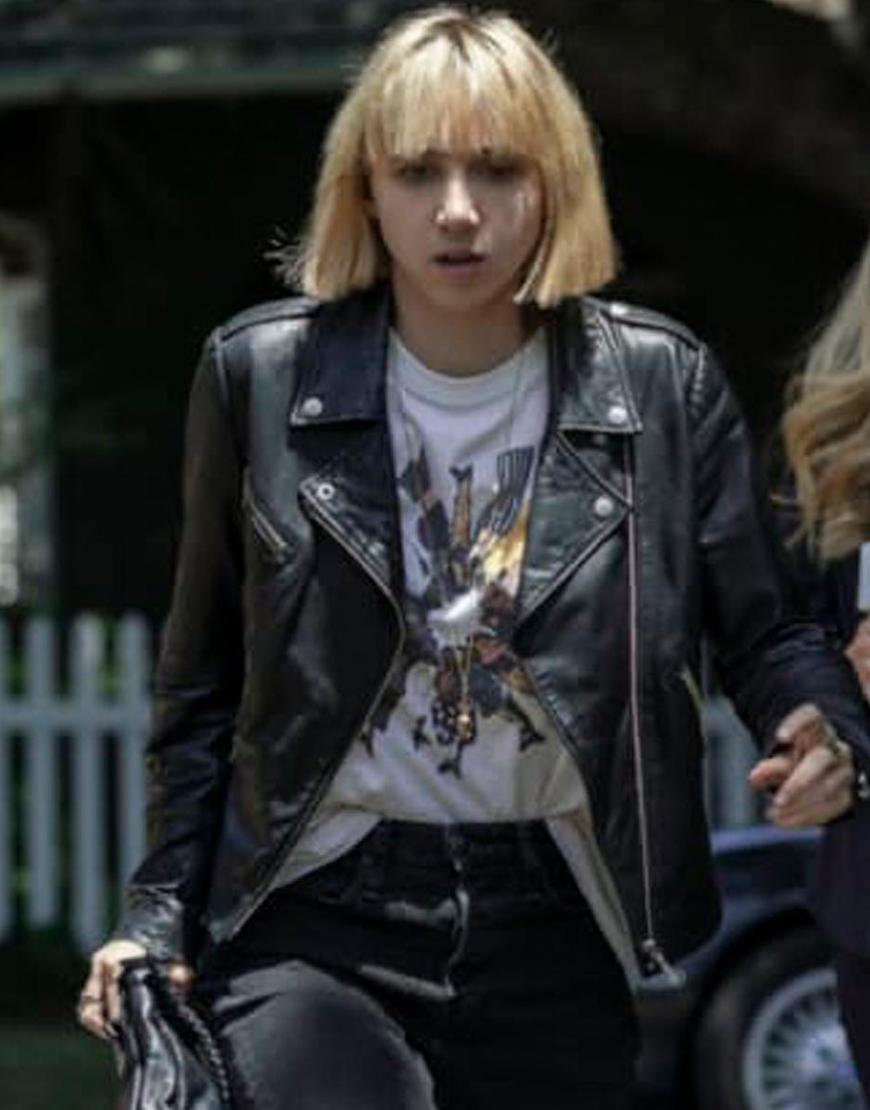 Clickbait 2021 Zoe Kazan Leather Jacket