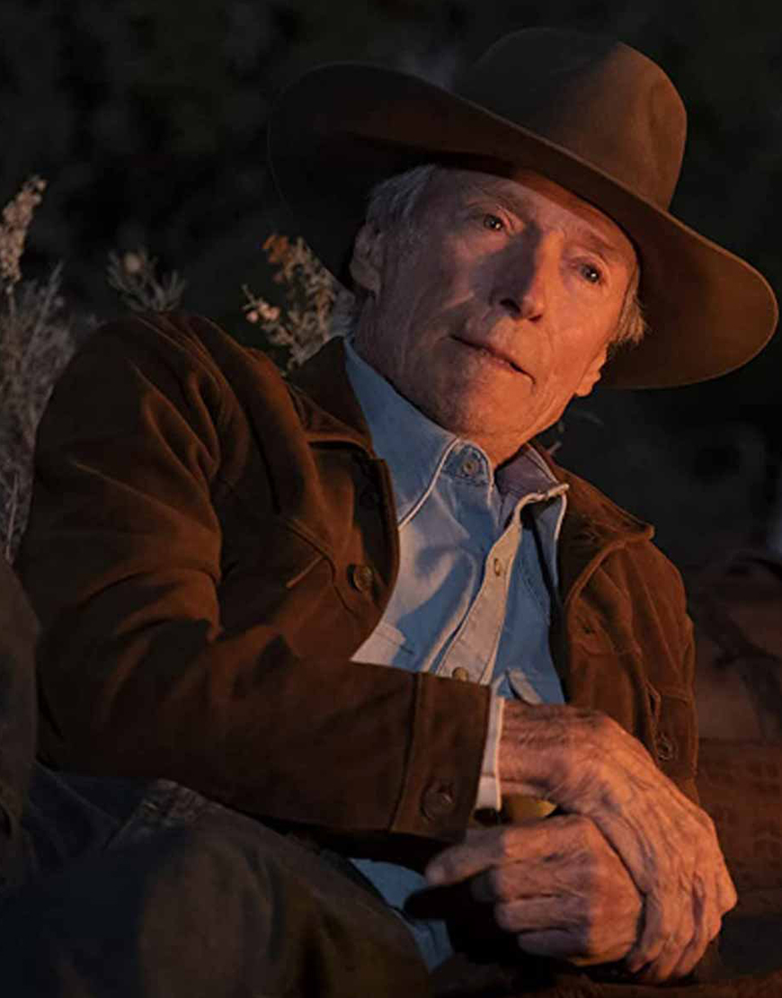 Cry Macho 2021 Clint Eastwood Brown Suede Jacket