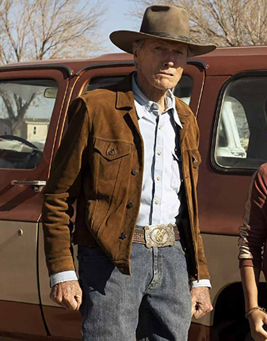Cry Macho 2021 Clint Eastwood Suede Jacket