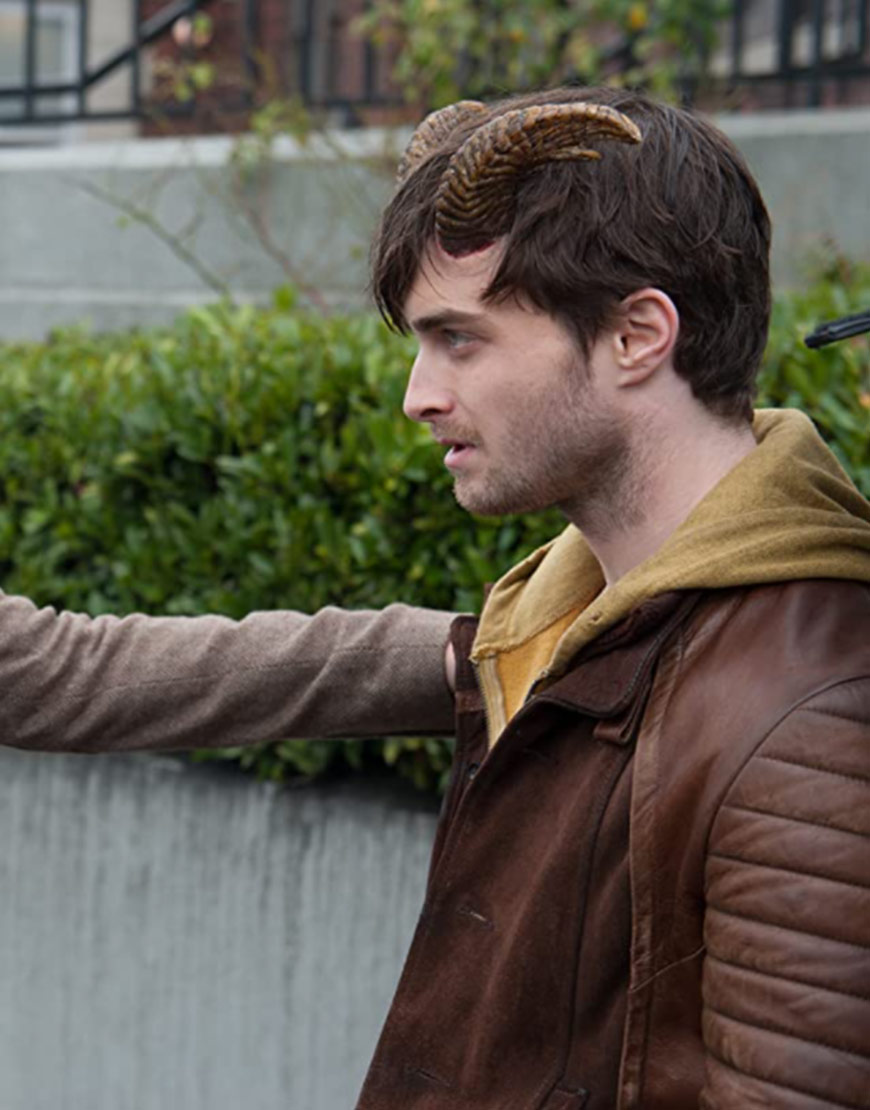 Daniel Radcliffe Horns IG Perrish Leather Jacket