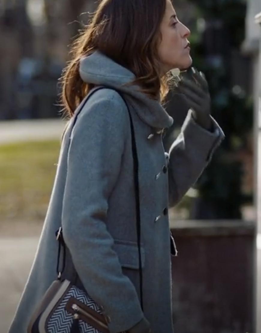 Death She Wrote 2021 Paula Brancati Mary Grey Hooded Coat