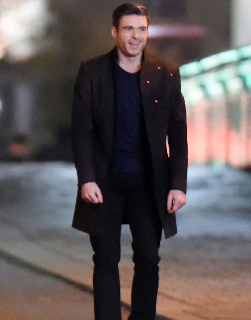 Eternals 2021 Kit Harington Black Coat