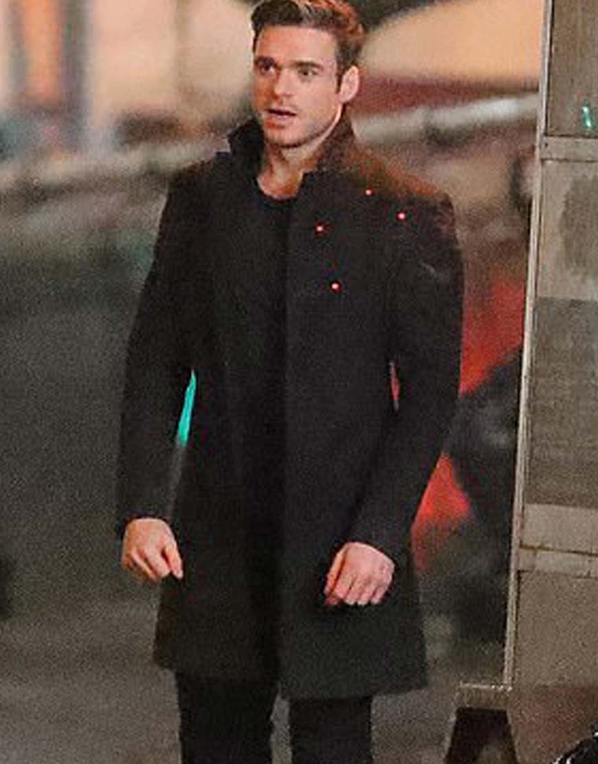Eternals 2021 Kit Harington Black Mid-Length Coat