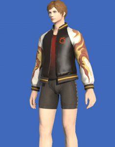 Final Fantasy XIV Inferno Bomber Leather Jacket