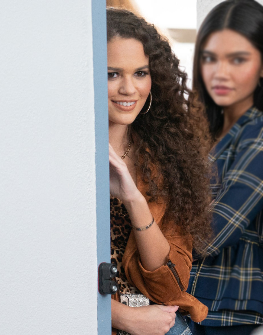 He's All That 2021 Madison Pettis Brown Suede Jacket