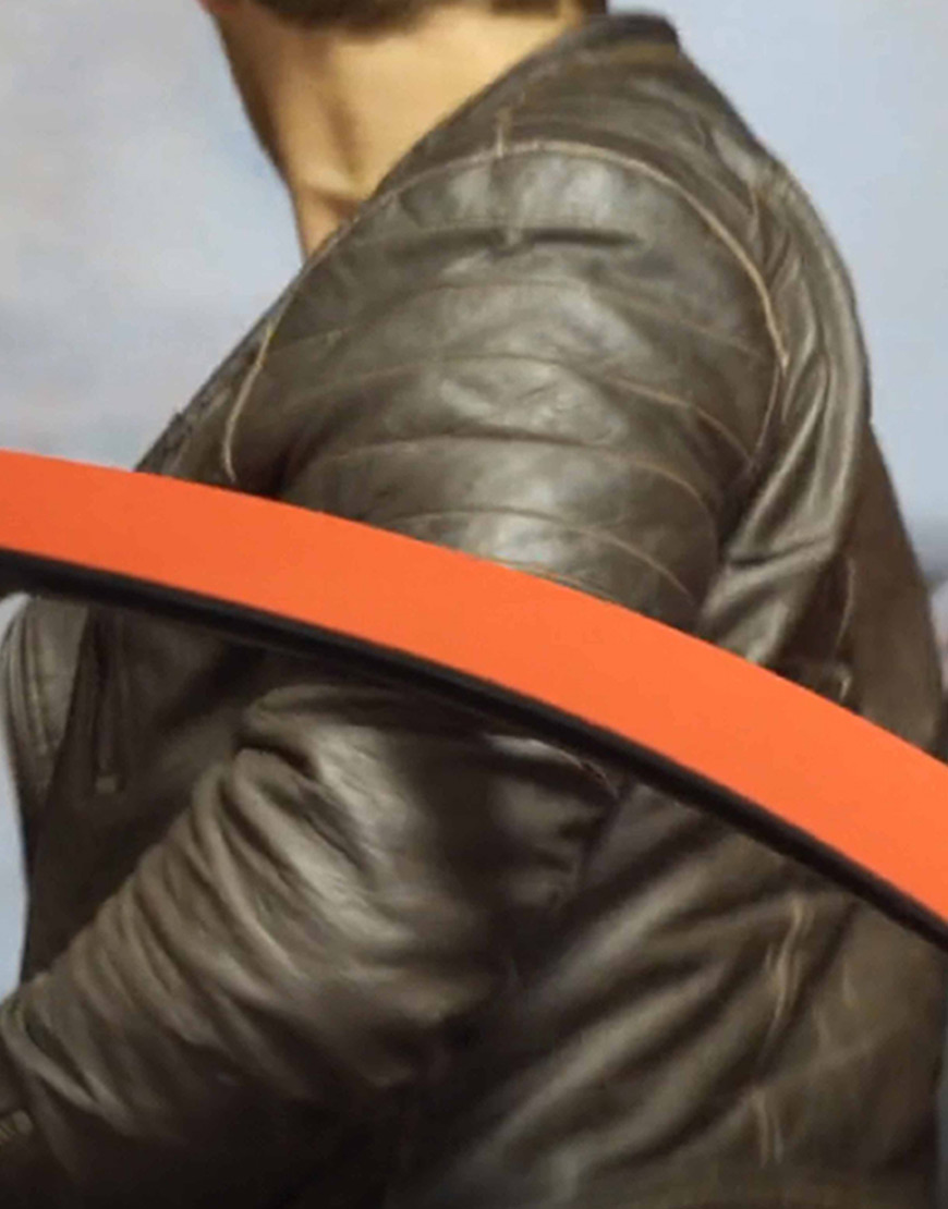 Holiday Monday Colin MacDougall Brown Leather Jacket