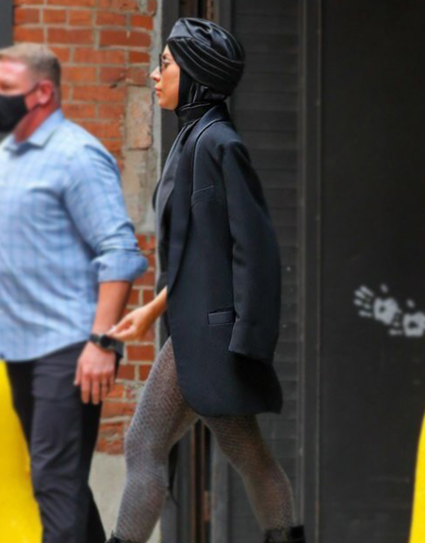 Lady Gaga Black Cotton Blazer