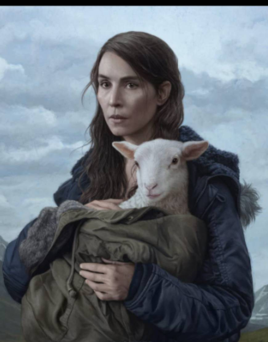 Lamb 2021 Noomi Rapace Black Hooded Jacket