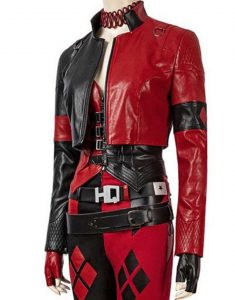 Margot Robbie The Suicide Squad 2021 Harley Quinn Leather Jacket