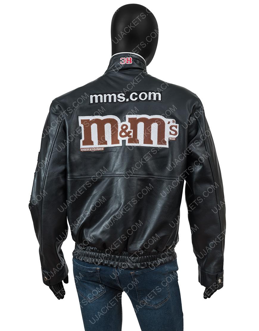 M&ms Leather Bomber Jacket