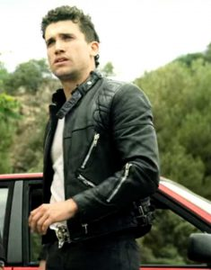 Money Heist S04 Jaime Lorente Black Leather Jacket