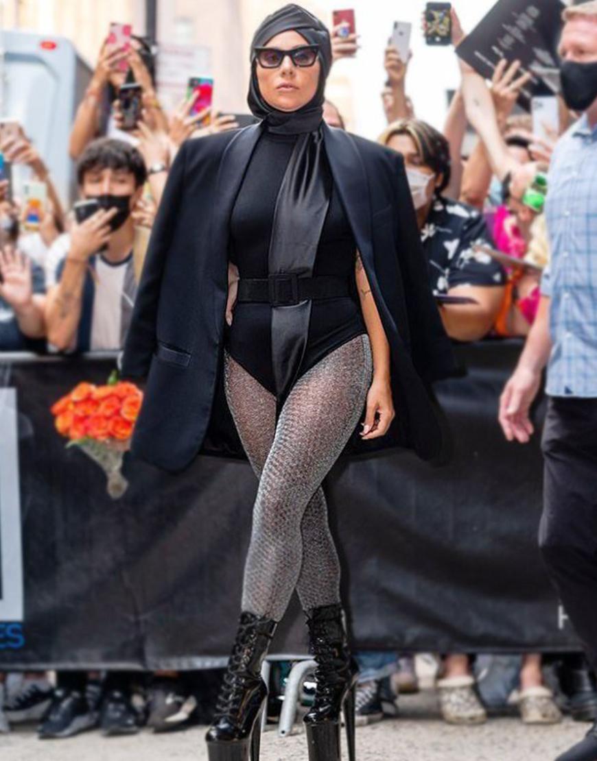 NYC Lady Gaga Black Cotton Blazer