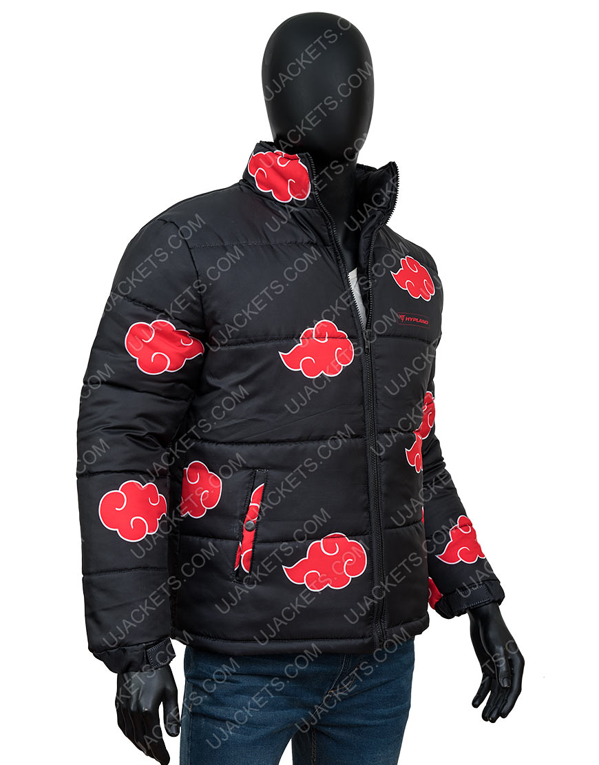 Naruto Akatsuki Black Printed Jacket