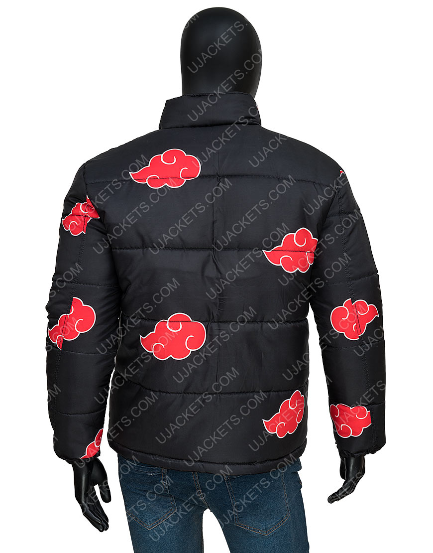 Naruto Akatsuki Printed Puffer Jacket