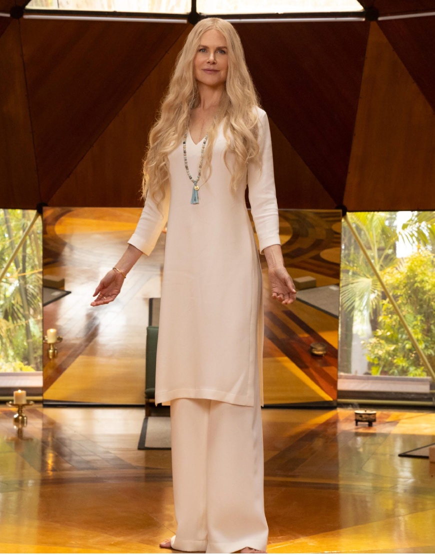Nine Perfect Strangers 2021 Nicole Kidman White Dress