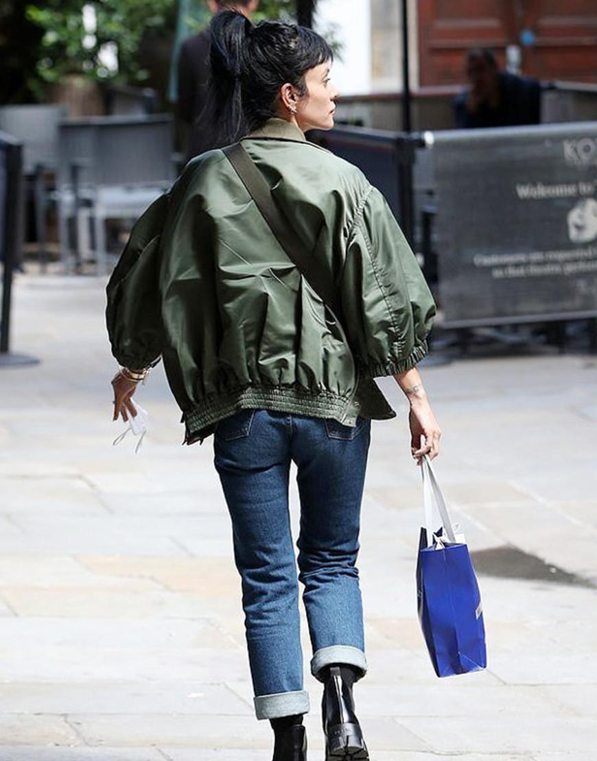 Noel Coward Lily Allen Green Letterman Jacket