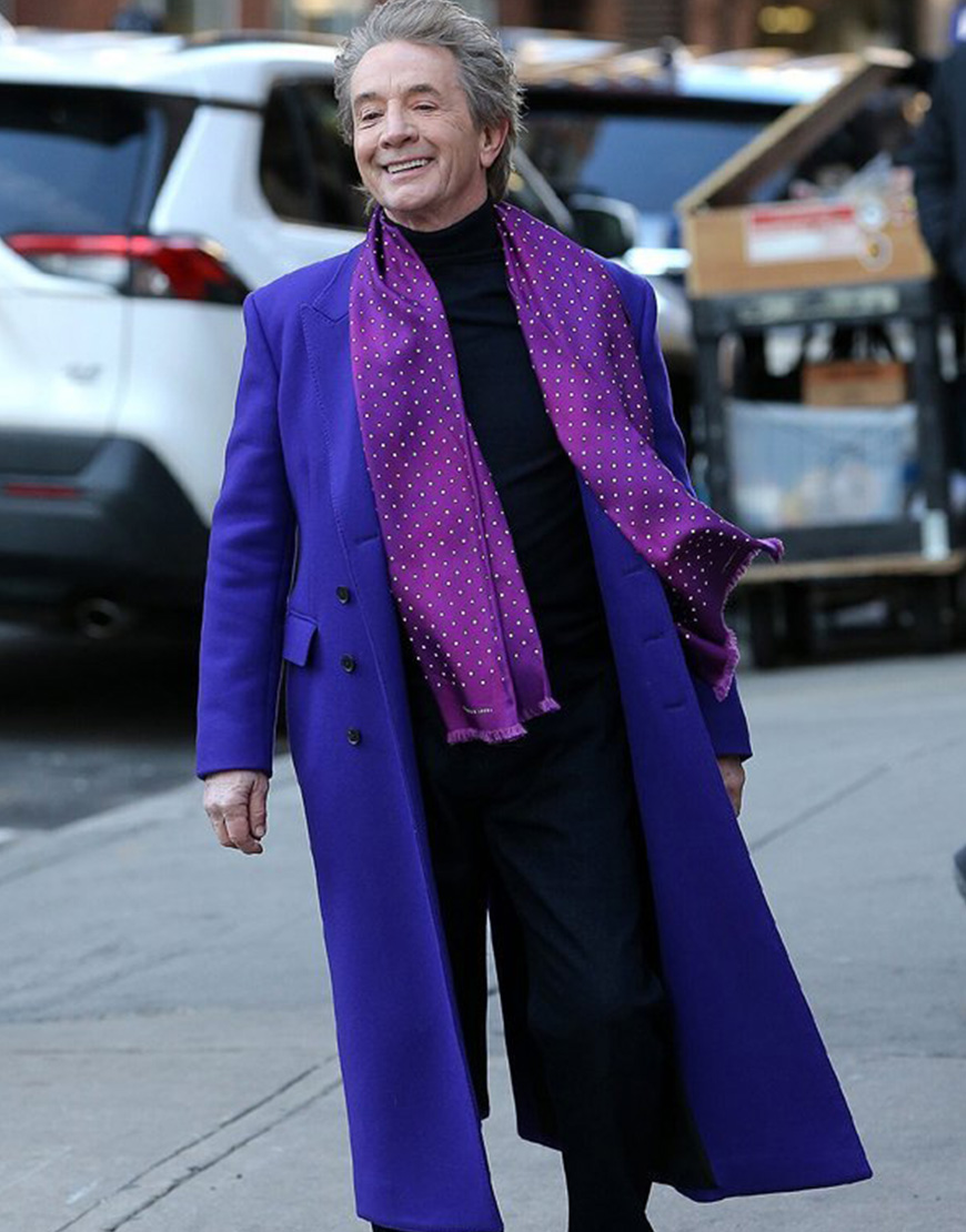 Only Murders In The Building Martin Short Purple Coat