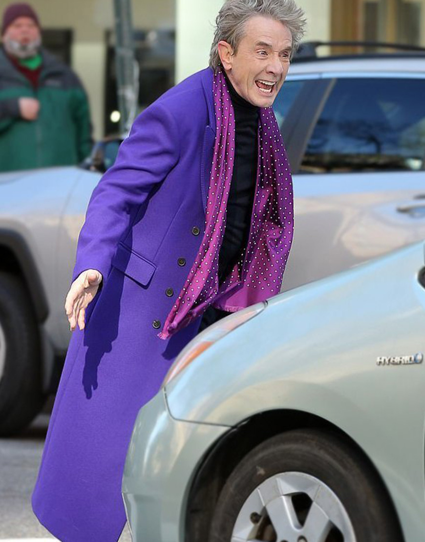 Only Murders In The Building Martin Short Purple Trench Coat