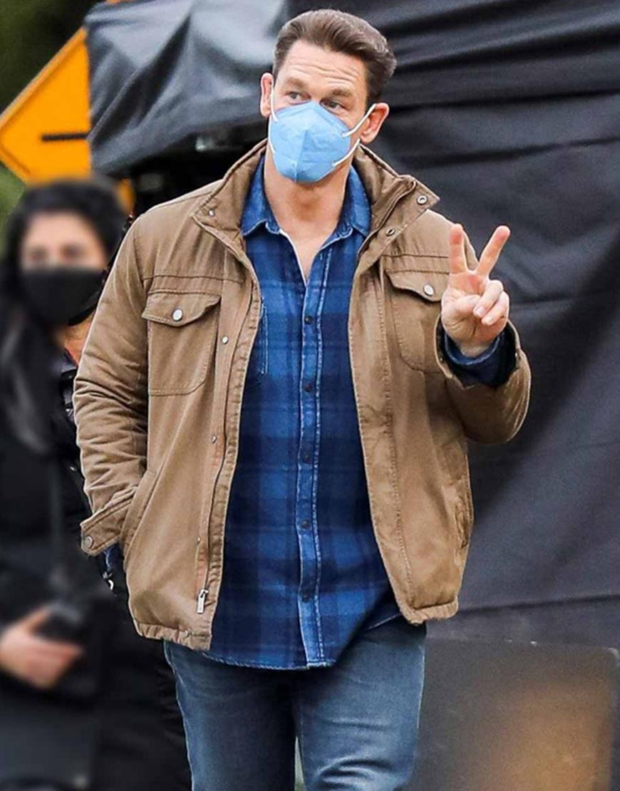 Peacemaker 2021 John Cena Brown Cotton Jacket