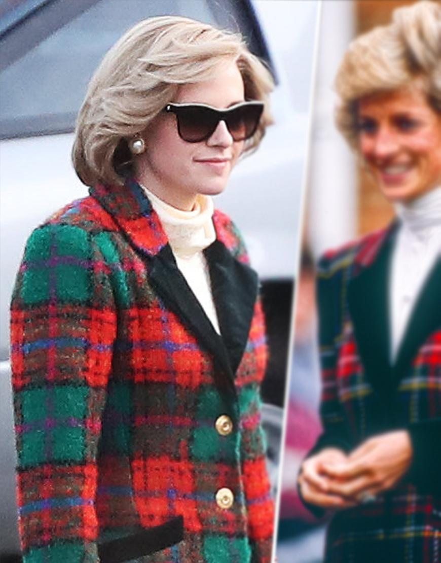 Princess Diana Film Spencer 2021 Kristen Stewart Woolen Felt Coat