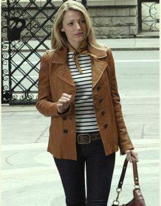 Serena Van Woodsen Gossip Girl Blake Lively Brown Jacket