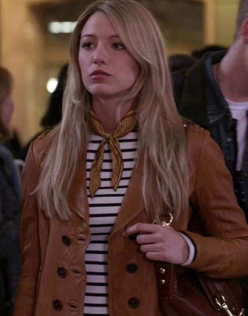 Serena Van Woodsen Gossip Girl Blake Lively Leather Jacket