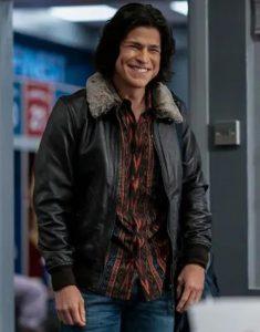 Ted Lasso S02 Cristo Fernández Black Leather Jacket