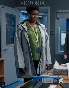 Ted Lasso S02 Sarah Niles Grey Coat