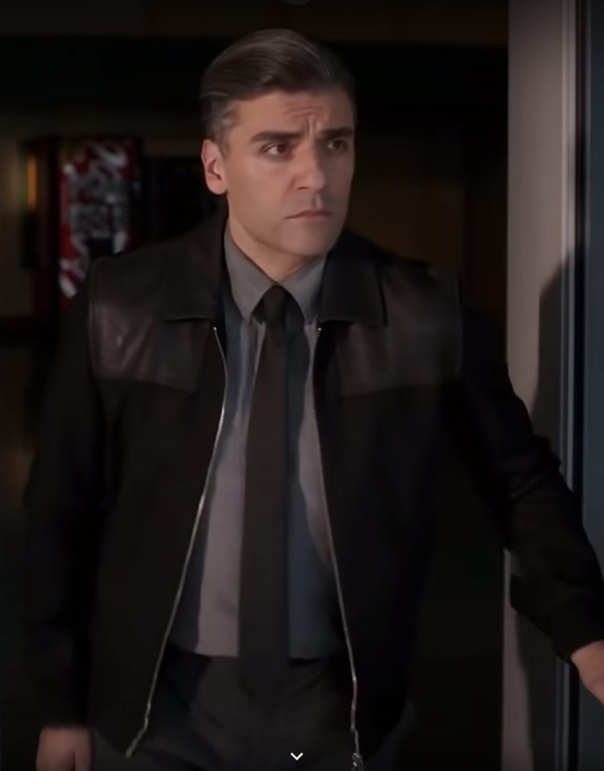The Card Counter 2021 Oscar Isaac Leather Jacket