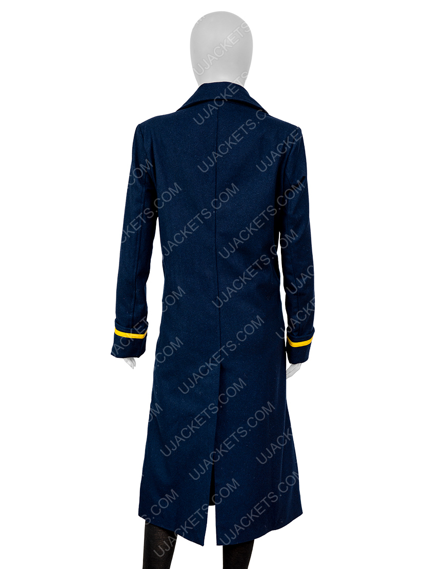 The Harder They Fall 2021 Regina King Blue Coat For Women