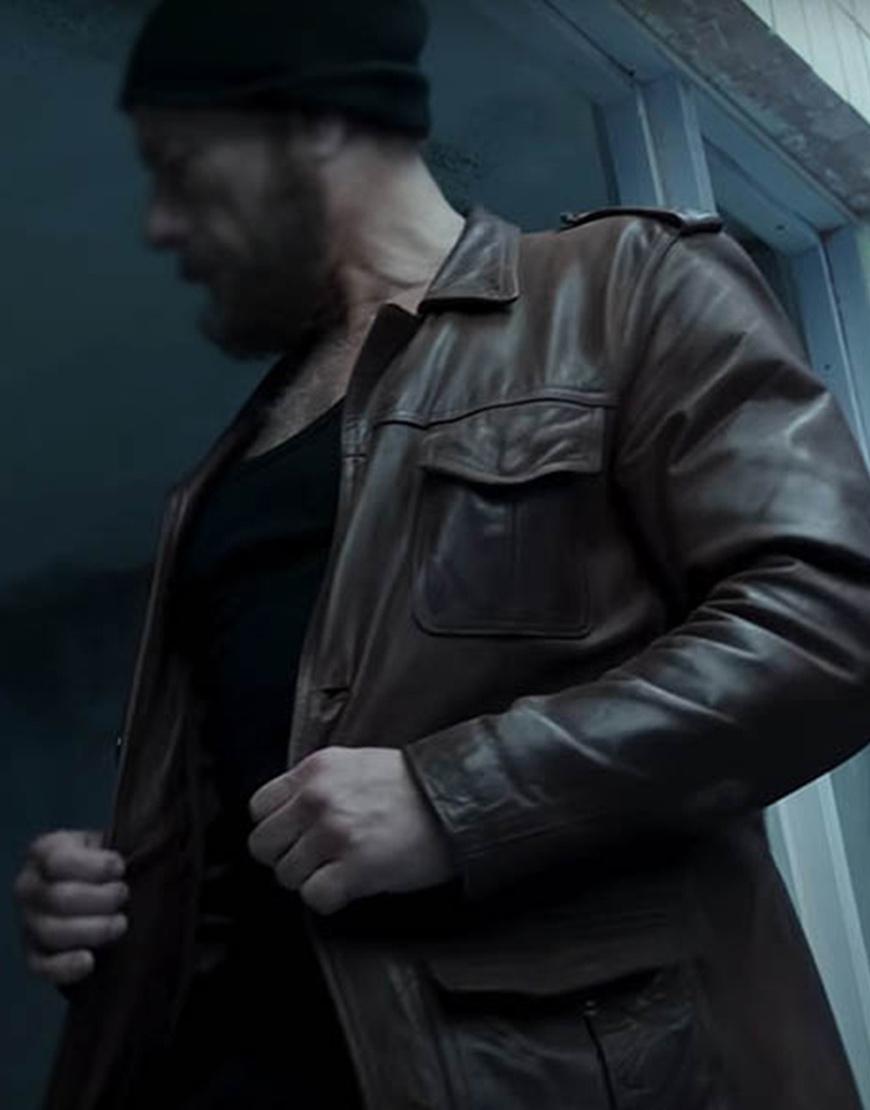 The Last Mercenary 2021 Jean-Claude Van Damme Brown Leather Jacket