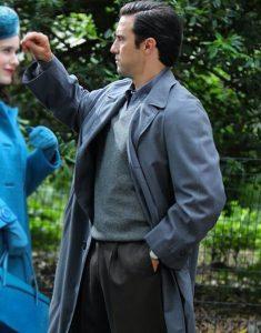 The Marvelous Mrs. Maisel Milo Ventimiglia Trench Grey Coat