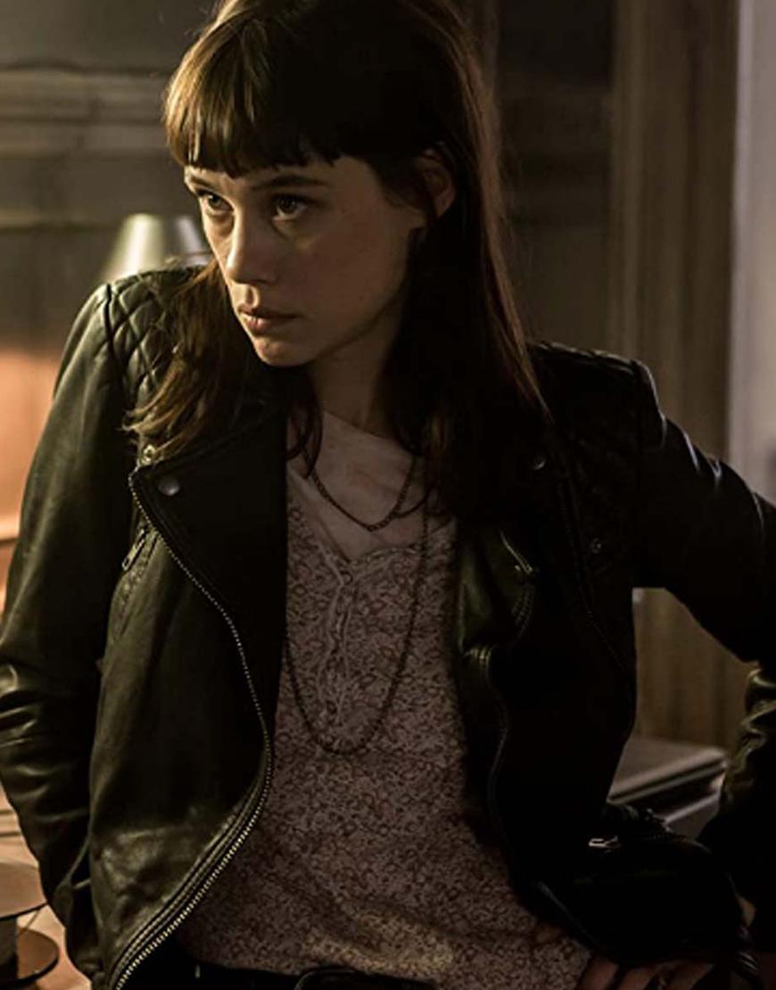 The Vault 2021 Black Lorraine Leather Jacket