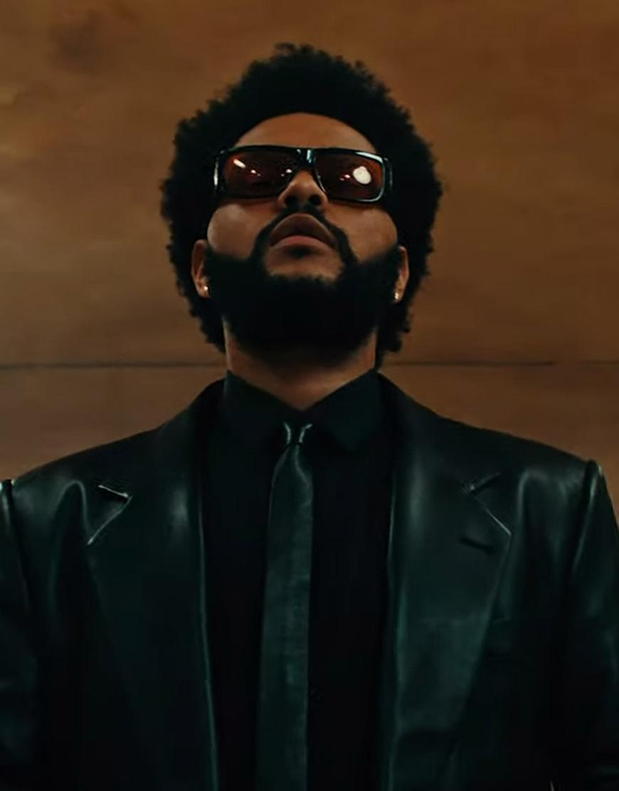 The-Weeknd-Take-My-Breath-2021-Black-Leather-Coat