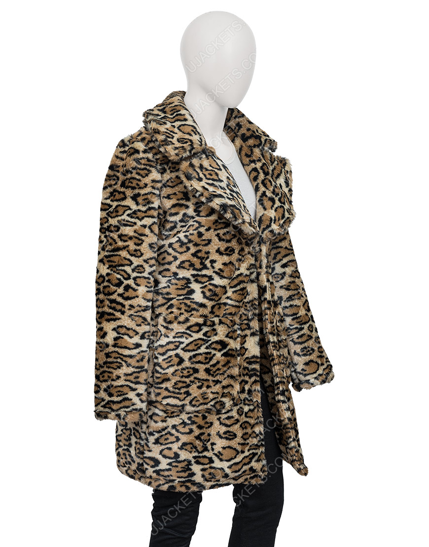 Victoria Justice Afterlife Of The Party 2021 Cassie Leopard Coat