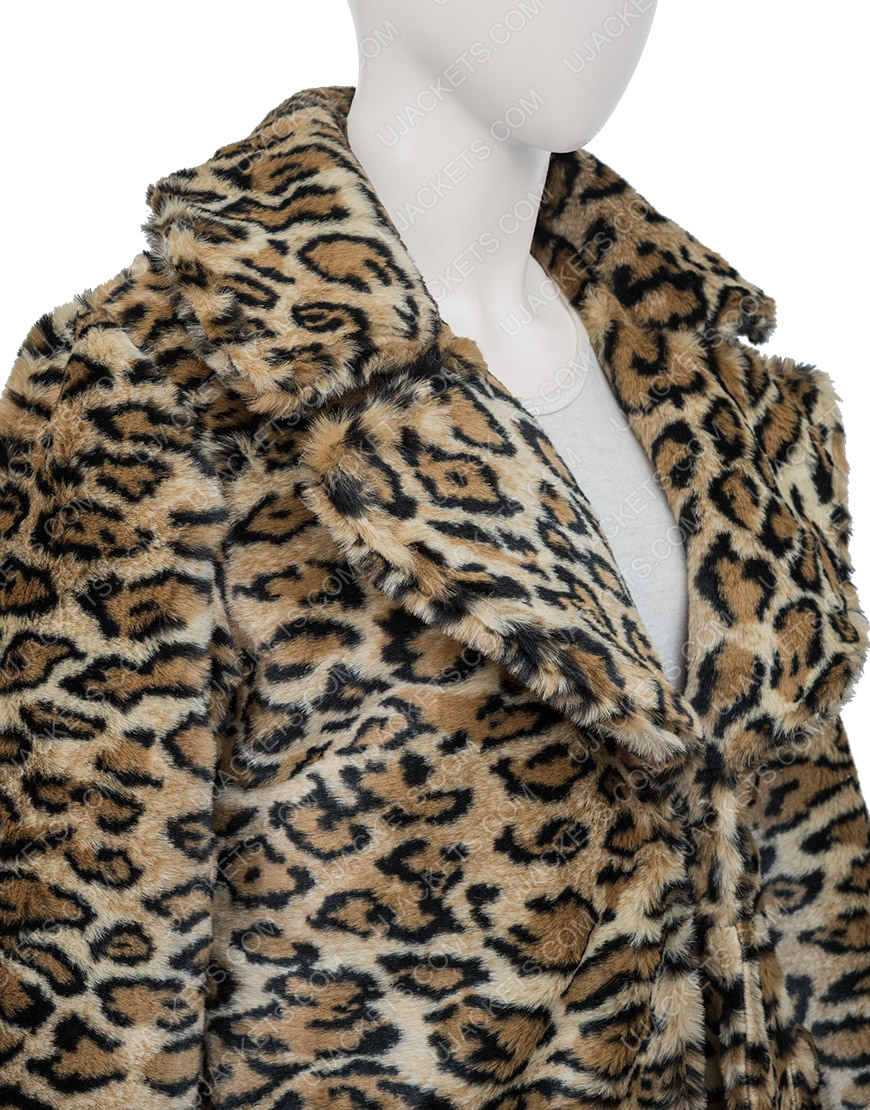 Victoria Justice Afterlife Of The Party 2021 Leopard Print Coat