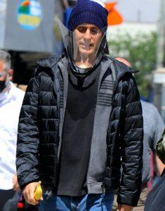 WeCrashed 2022 Jared Leto Black Puffer Jacket