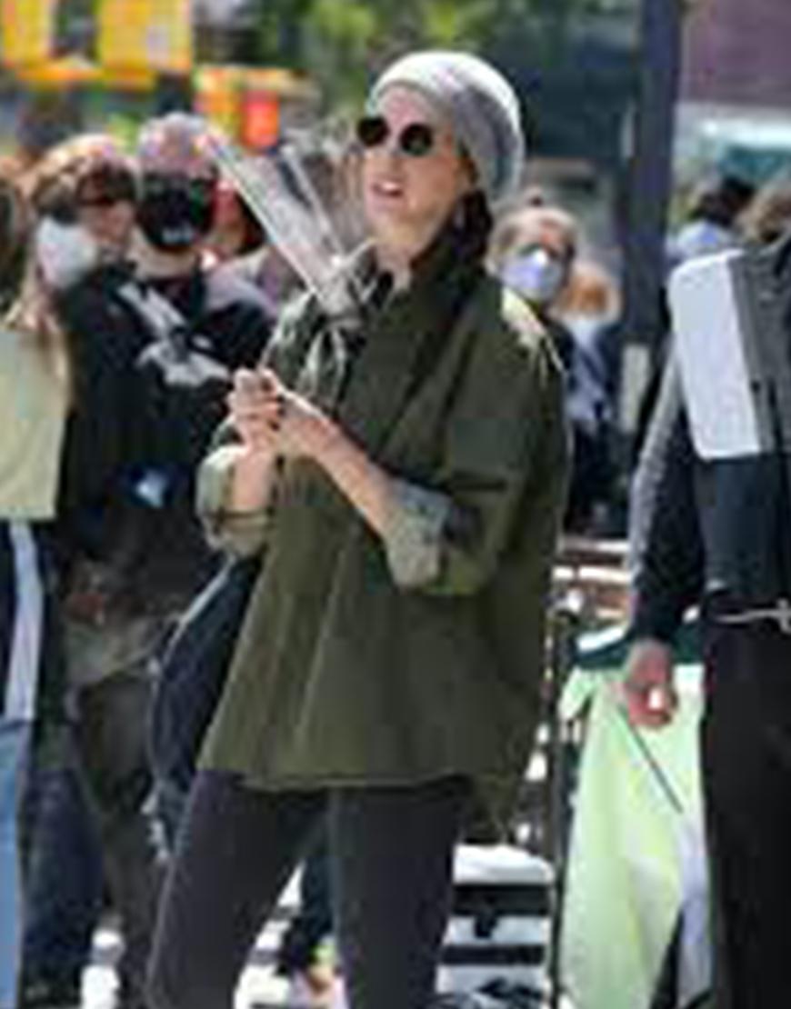 WeCrashed Anne Hathaway Green Coat