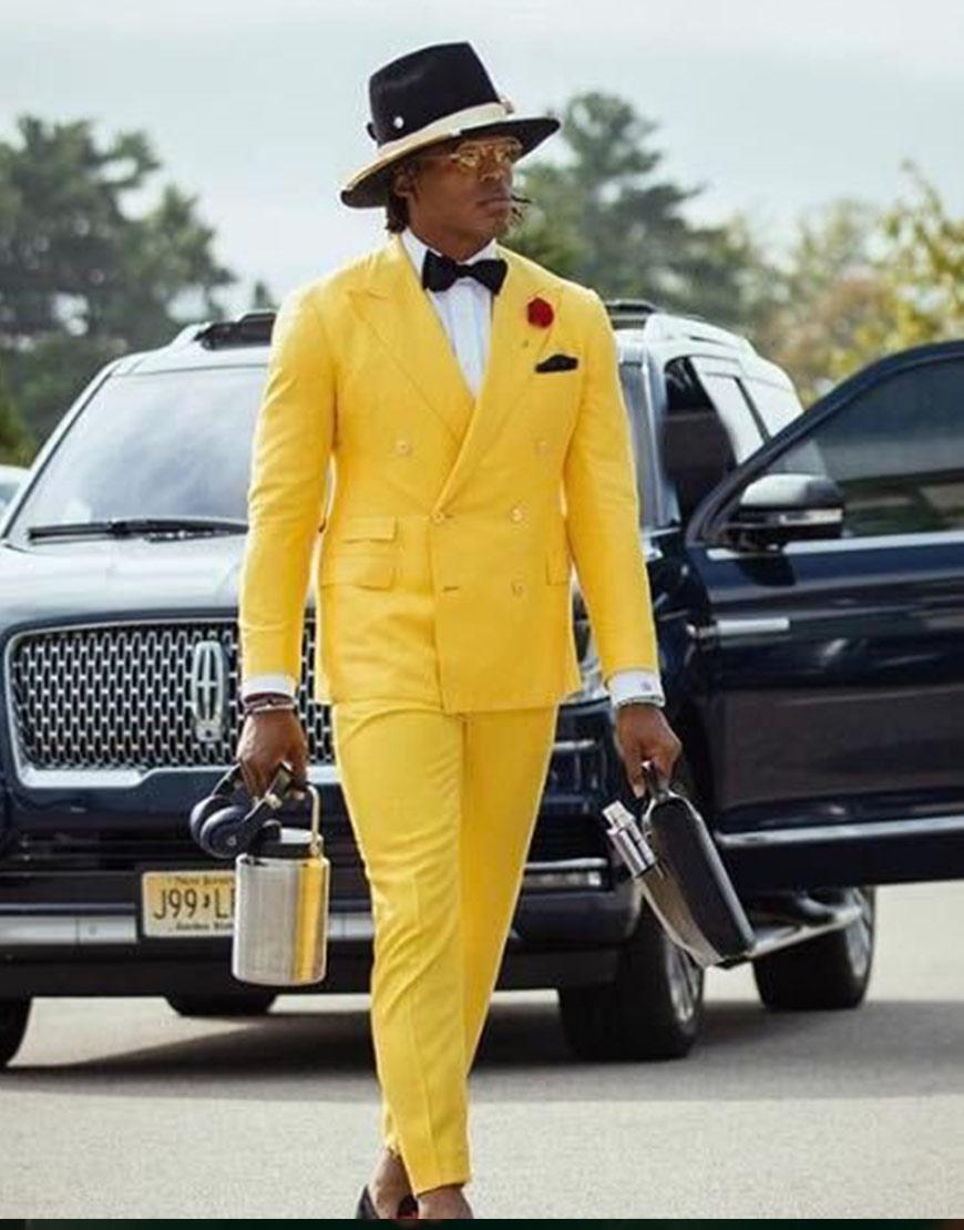 Cam Newton Style Yellow Suit
