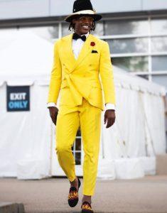 Cam Newton Style Yellow Tuxedo