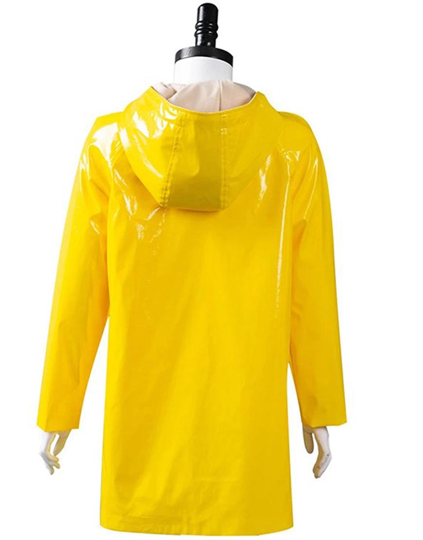 Coraline Yellow Hooded Rain Coat