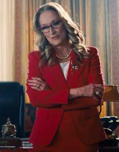 Don't Look Up 2021 Meryl Streep Red Blazer