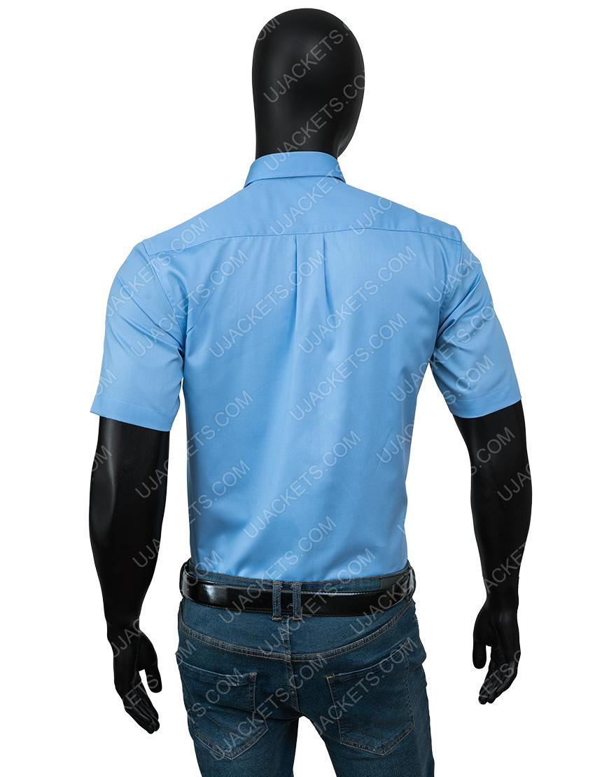 Free Guy Ryan Reynolds Blue Shirt and Tie