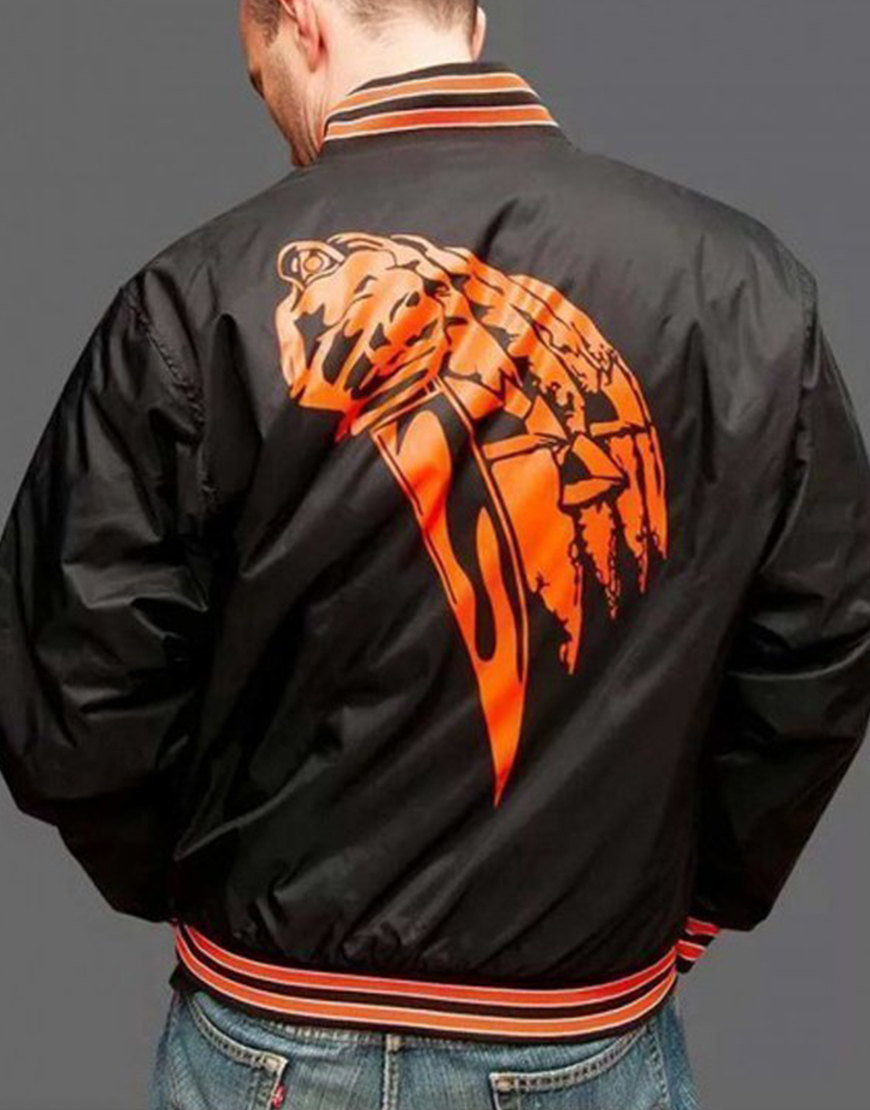 Halloween Kills 2021 Black & Orange 78 Bomber Jacket