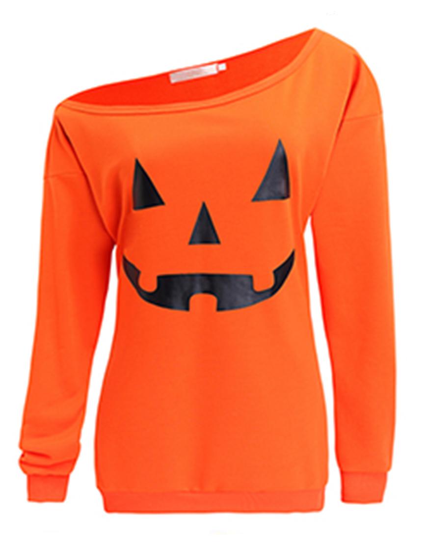 Halloween Slouchy Pumpkin Orange Shirt