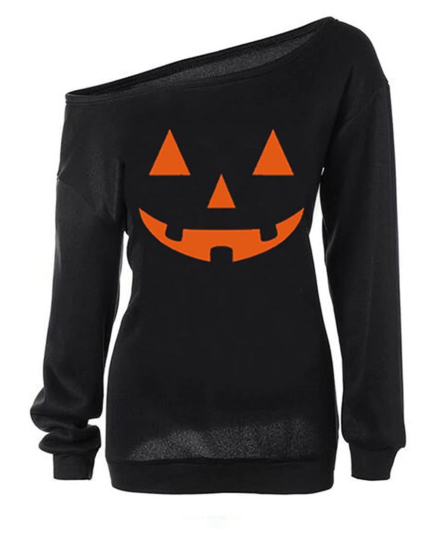 Halloween Slouchy Pumpkin Shirt