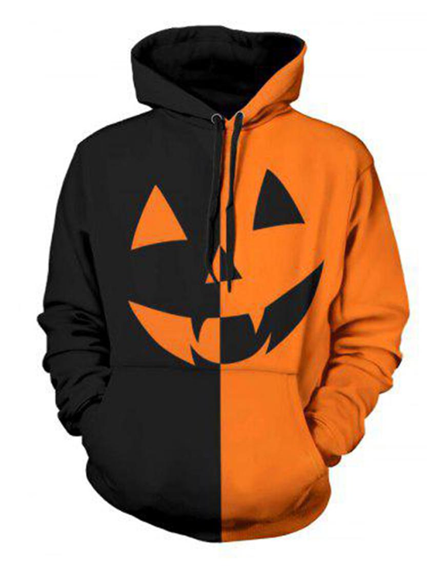 Halloween Two-Tone Hoodie