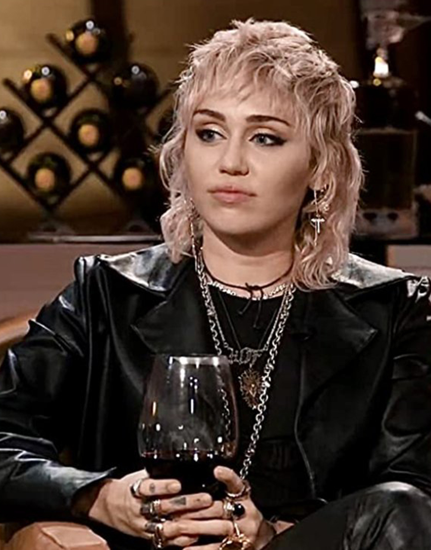 Hart To Heart 2021 Miley Cyrus Leather Jacket