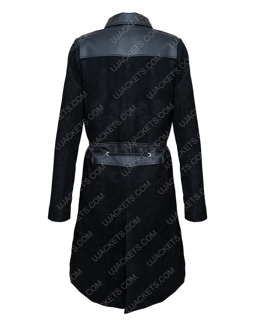 How To Get Away With Murder S06 Viola Davis Black Suede Coat